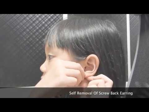 Easy Self Removal Of Back Earring
