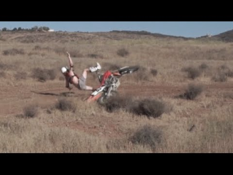 Trying To Ride A Dirt Bike!