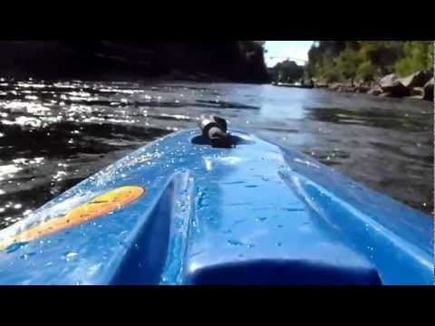Black River kayak trip past the island  and past the bridge then back down the river part 1