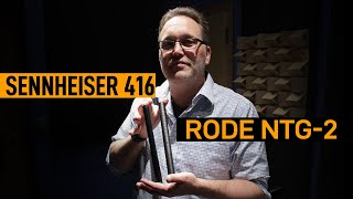 Rode NTG-2 vs. Sennheiser 416 (Male) | VO Mic Comparison