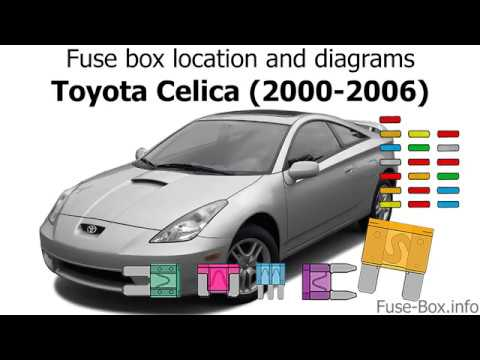 [SCHEMATICS_4NL]  Fuse box location and diagrams: Toyota Celica (2000-2006) - YouTube | 2002 Toyota Celica Fuse And Relay Diagram |  | YouTube