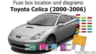Fuse box location and diagrams: Toyota Celica (2000-2006) - YouTubeYouTube