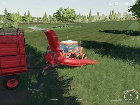 FS19-Варваровка!!! собираем траву. Farming Simulator 19