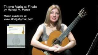 Theme Varie et Finale by Manuel M. Ponce - In Depth Exploration - Irene Gomez | Strings By Mail