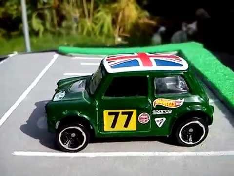 Hot Wheels Morris Mini Cooper Green 2014 Colour Youtube