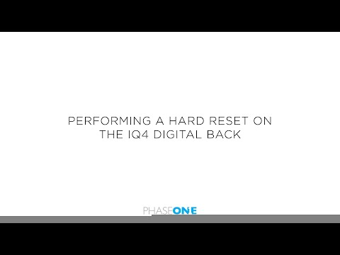 Support | How to hard reset the Phase One IQ4 Digital Back | Phase One