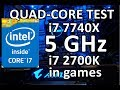 5GHz test!! i7 7740X vs i7 2700K - Evolution of Intel quad-cores. Pt.2