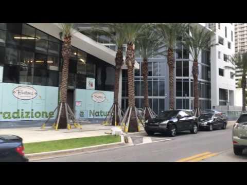 Driving Downtown Miami Florida USA