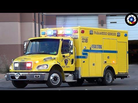 [Las Vegas] Rescue 218 Clark County Fire Department - Q Siren !!!