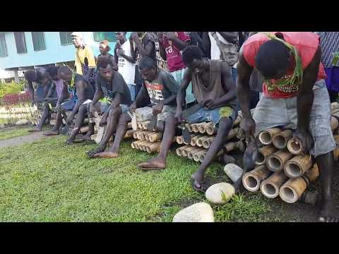 Bamboo Music in  Tangari Village in Bougainville