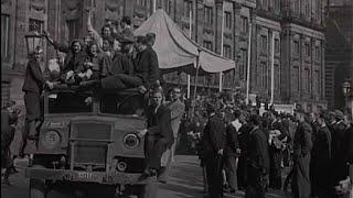 1945: Intocht Canadezen in Amsterdam na de oorlog op bevrijdingsdag (2015, maar dan 70 terug)
