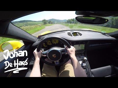 Porsche 911 Carrera 4 GTS 430hp POV test drive GoPro