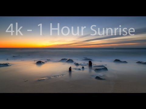 Calming Sunrise at Sandy Hook, NJ 4k - Meditation - Sleep -