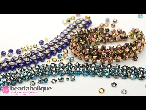 How to Make the Rose Montee Right Angle Weave Bracelets