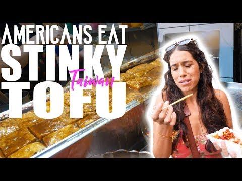 AMERICANS EAT STINKY TOFU - JIUFEN OLD STREET TAIWAN