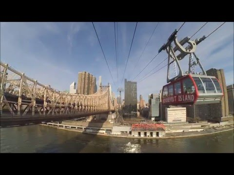 Roosevelt Island Tramway full round trip- New York City - scenic view [HD]