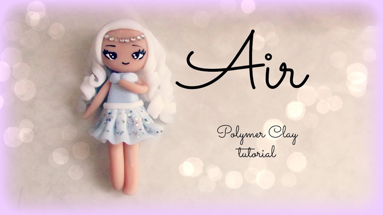 4 elements air polymer clay tutorial doll chibi youtube baditri Images