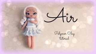 4 Elements - Air - Polymer clay Tutorial ❀ Doll Chibi