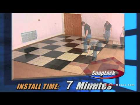 SnapLock Dance Floors Installation