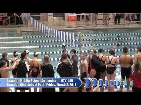 3/2/2018 Brandon Middle School Swimming Flint Metro League Championships