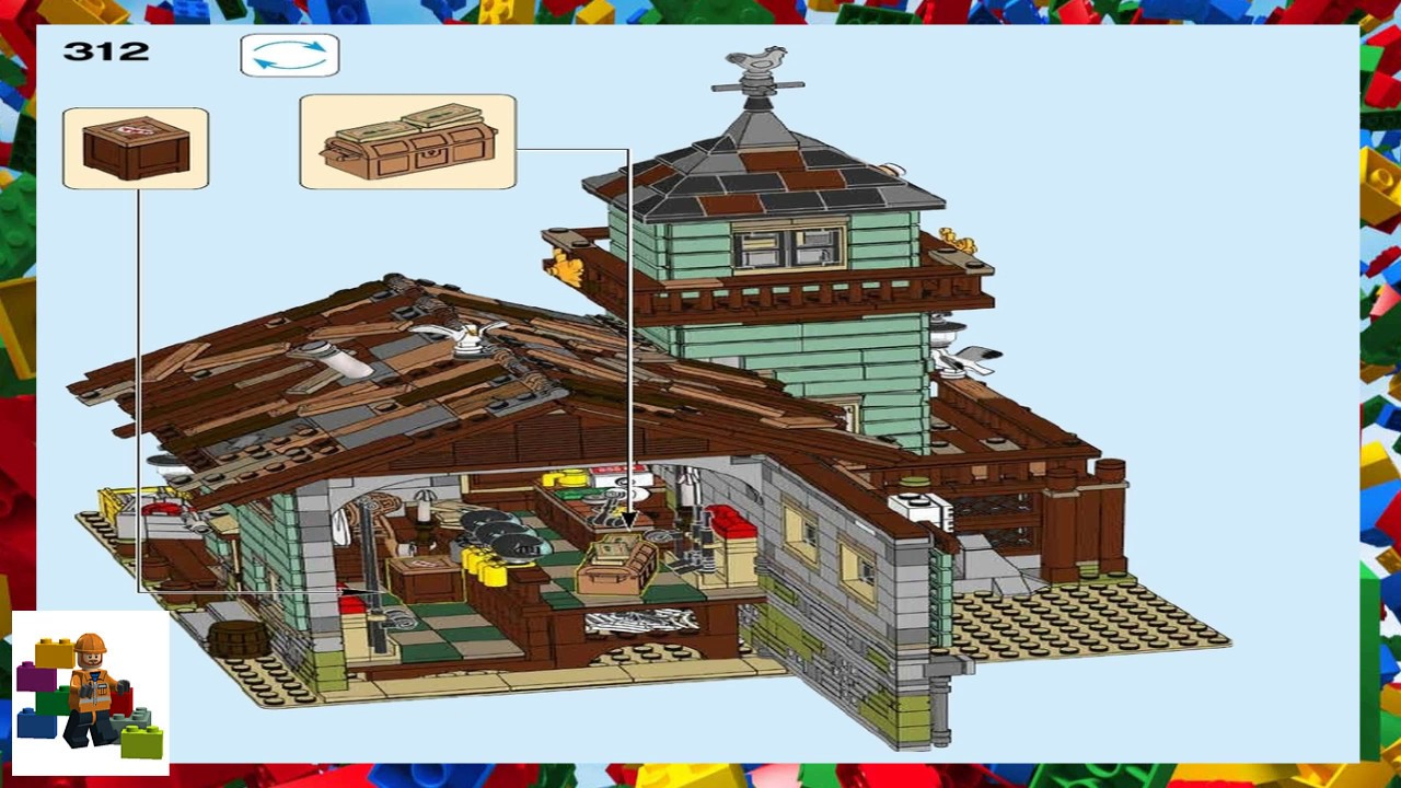 Lego instructions ideas 21310 old fishing store for Lego old fishing store