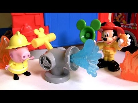 Mickey Mouse Funny Firehouse Playset ❤ Save the Day Fire Truck Mickey ❤ El Parque de Bomberos