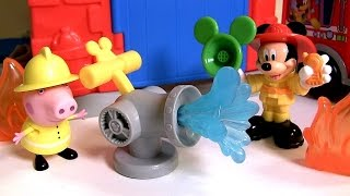 Mickey Mouse Funny Firehouse Playset ♥ Save the Day Fire Truck Mickey ! El Parque de Bomberos