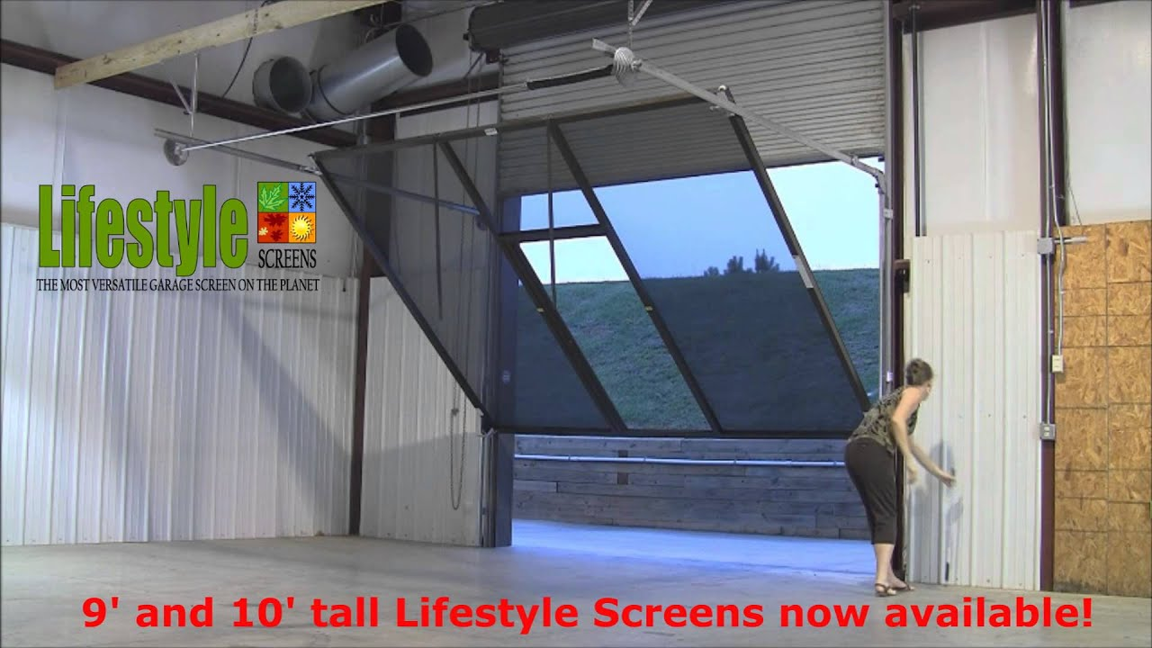 roll up garage door screenLifestyle Screens Adds 9H and 10H Garage Door Screen  YouTube