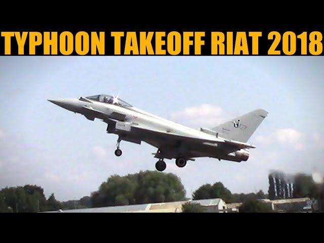 Italian Typhoon Takeoff | RIAT 2018