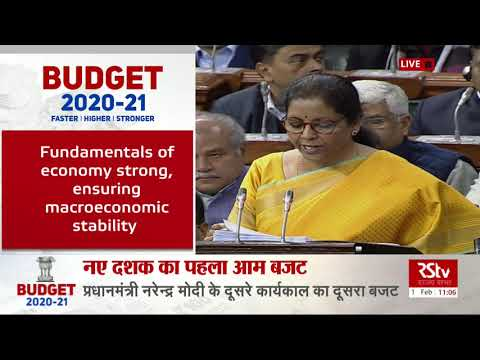 Budget Speech by FM Nirmala Sitharaman | Union Budget 2020 - 21