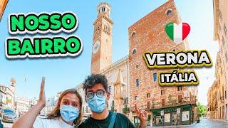 TOUR PELO NOSSO BAIRRO EM VERONA, NA ITÁLIA | MORANDO NO CENTRO HISTÓRICO!