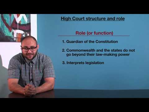 VCE Legal Studies - High Court Structure and Role