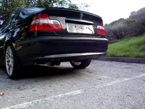 bmw 320d e46 exhaust youtube. Black Bedroom Furniture Sets. Home Design Ideas