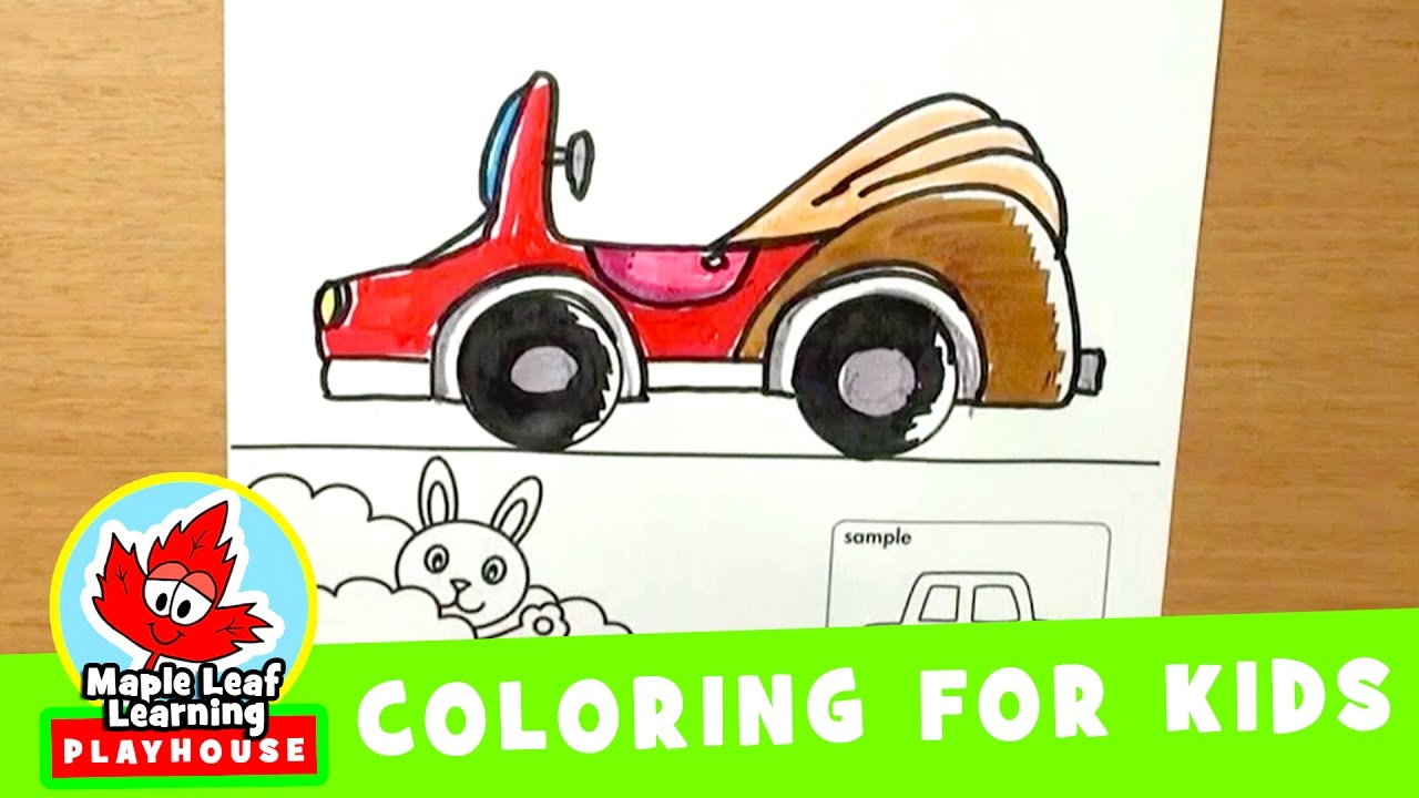 vehicles coloring pages for kids maple leaf learning playhouse
