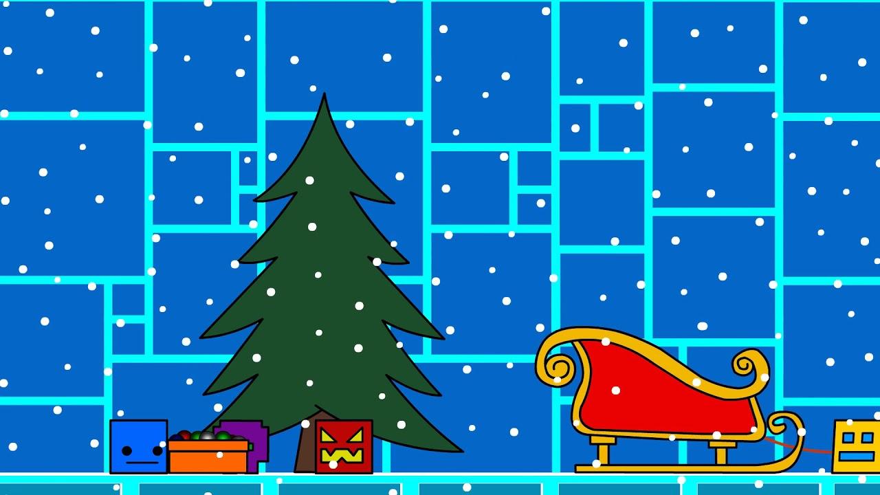 Geometry Dash Animation Christmas Tree YouTube