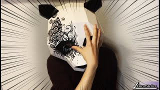 私の対策マスクはこれです。【親子でできる簡単工作キットに落書きしてみた】