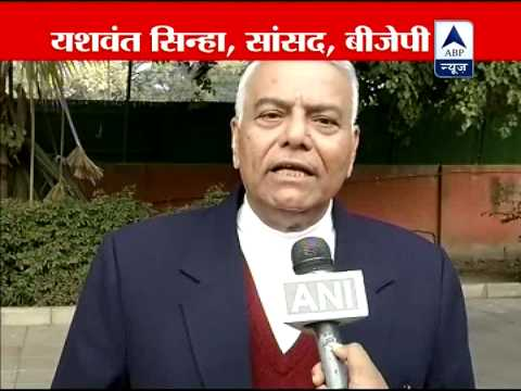 Yashwant Sinha says, I hope PM will implement what all he said