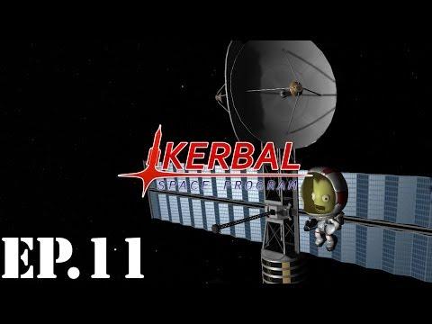 Kerbal Space Program: Career Mode Let's Play | Part 11 | Deep Space Repairs