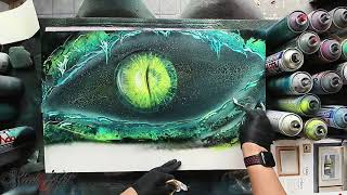 Eye of Dragons Cave - SPRAY PAINT ART by Skech