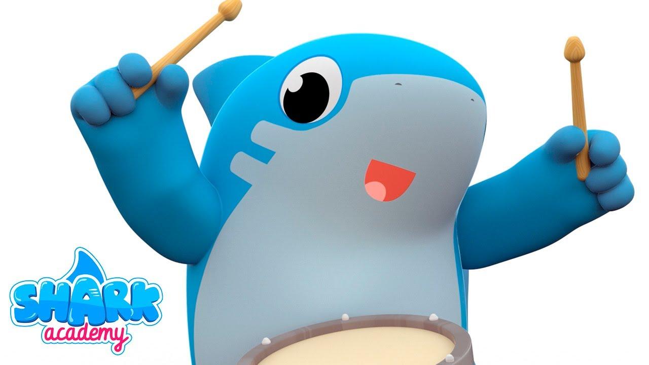 Shark Academy - The Ants Go Marching by Shark Academy  - Baby Shark Nursery Rhymes for Children