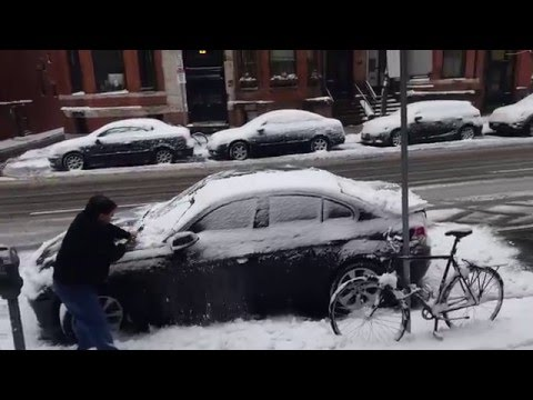 Back Bay Boston  snow 2016