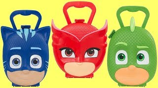 I Open the PJ MASKS Carry Cases To Find The Surprises
