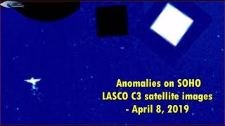 Anomalies on SOHO LASCO C3 satellite images - April 8, 2019