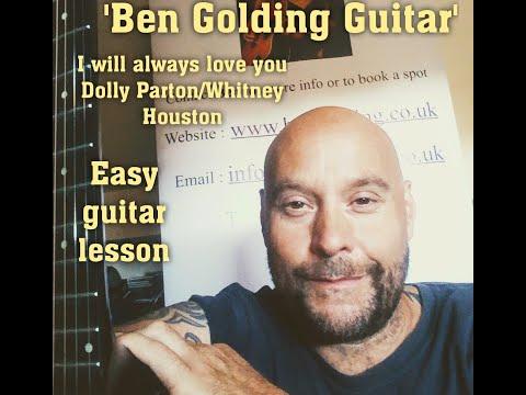 I will always love you/Dolly Parton/Whitney Houston Guitar Tutorial