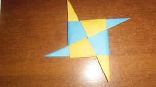 How to make cool origami shuriken/Как сделать крутой оригами сюрикен