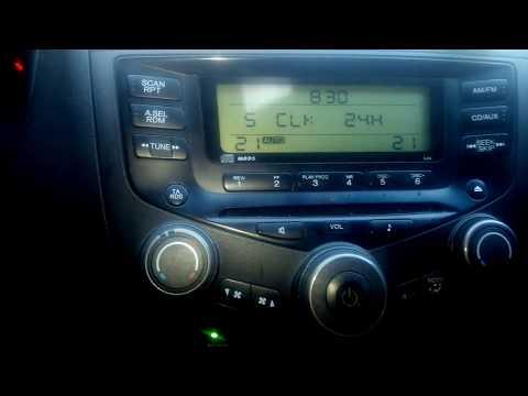Как настроить часы в хонда аккорд 7