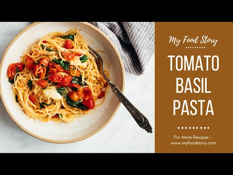 Easy Tomato Garlic Basil Pasta - Just Five Ingredients!