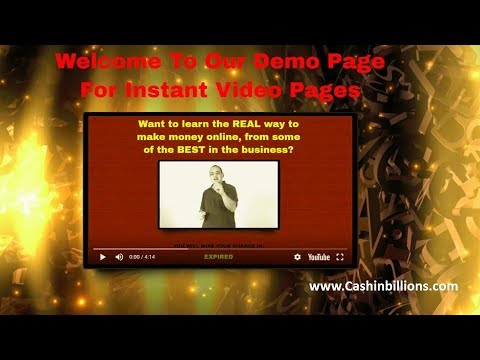 Instant Video Pages Review Demo | How to Quickly Create a Video Landing Page