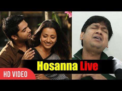 Vijay Prakash Singing Live Hosanna In Tamil   Exclusive With Vijay Prakash