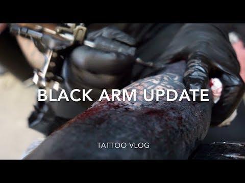 Black Arm Tattoo (UPDATE)   Blackout Sleeve   Tattoo Vlog